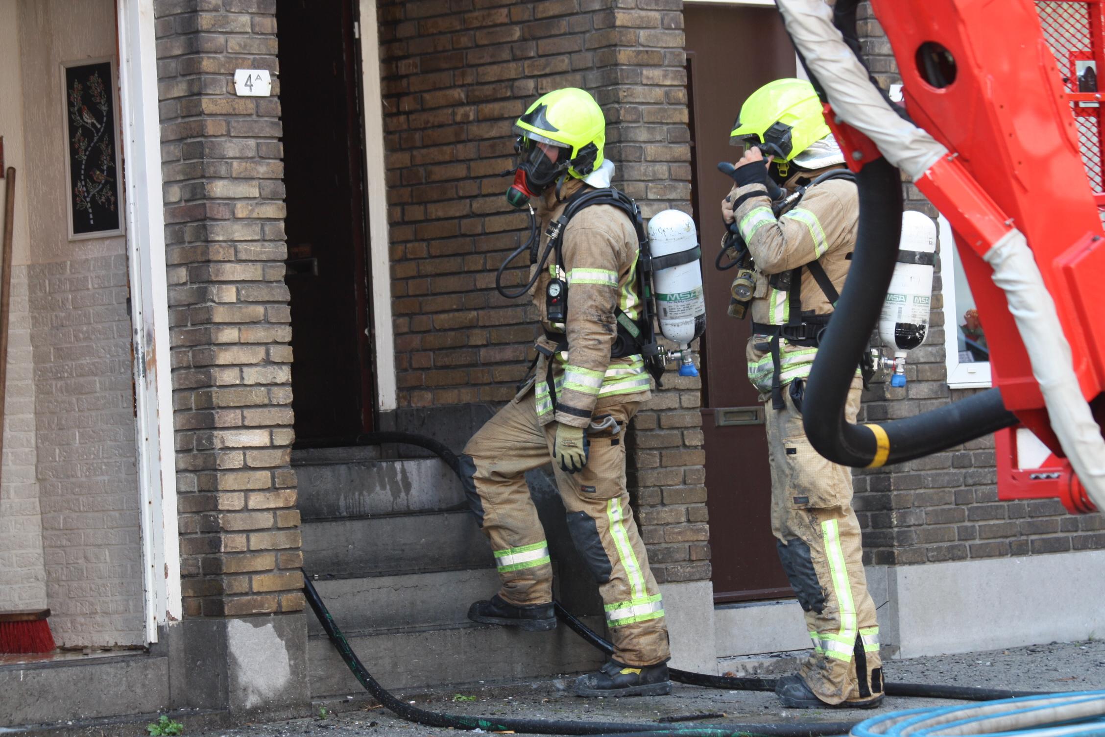 Uitslaande brand Newtonstraat Schiedam.