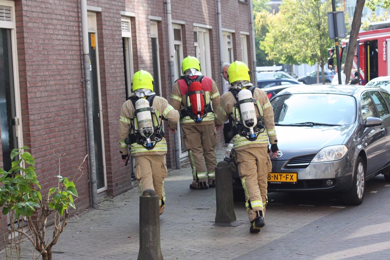 Melding gaslucht aan de Schie in Schiedam.