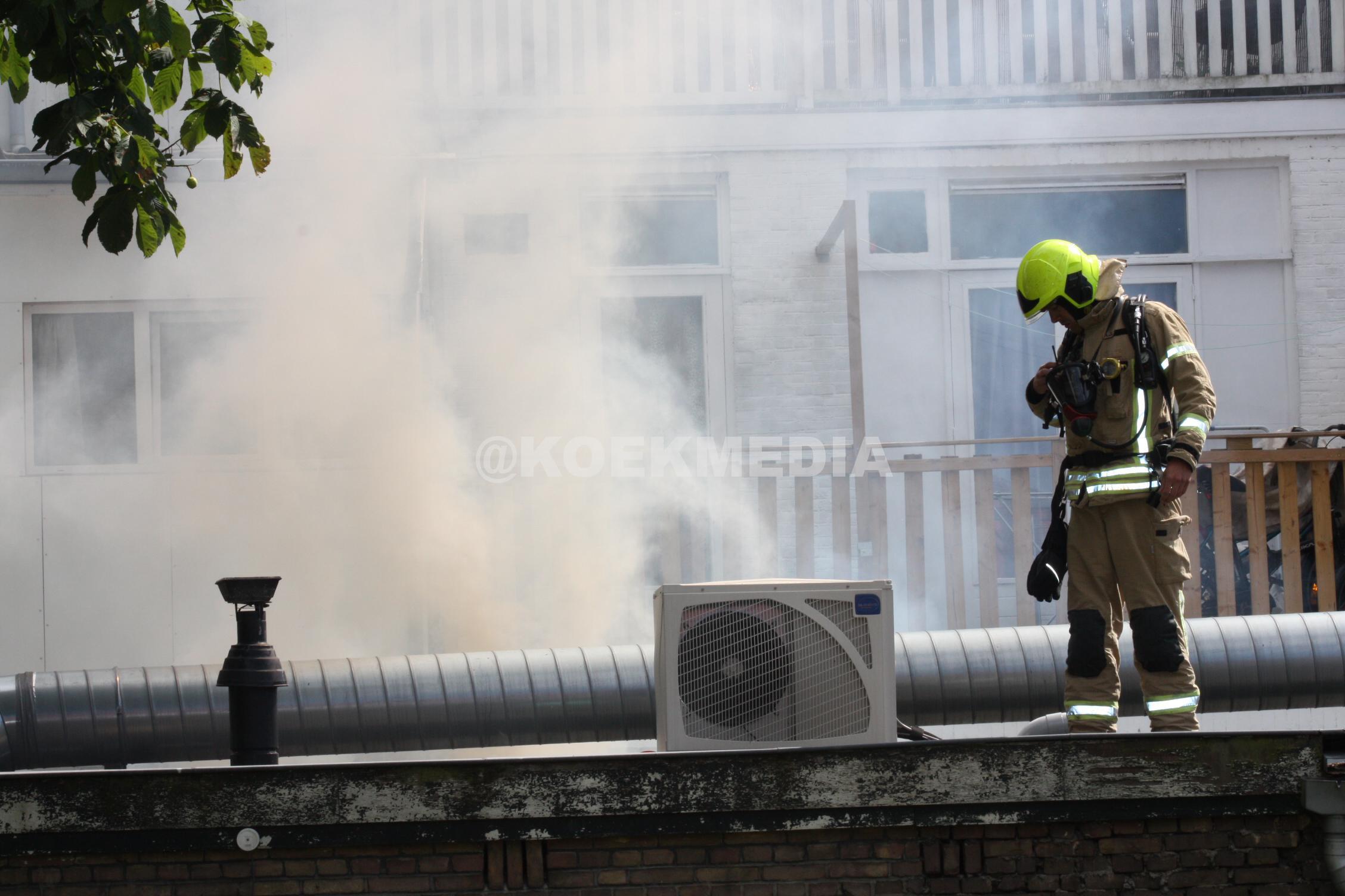 Schuur in brand op Broersvest Schiedam