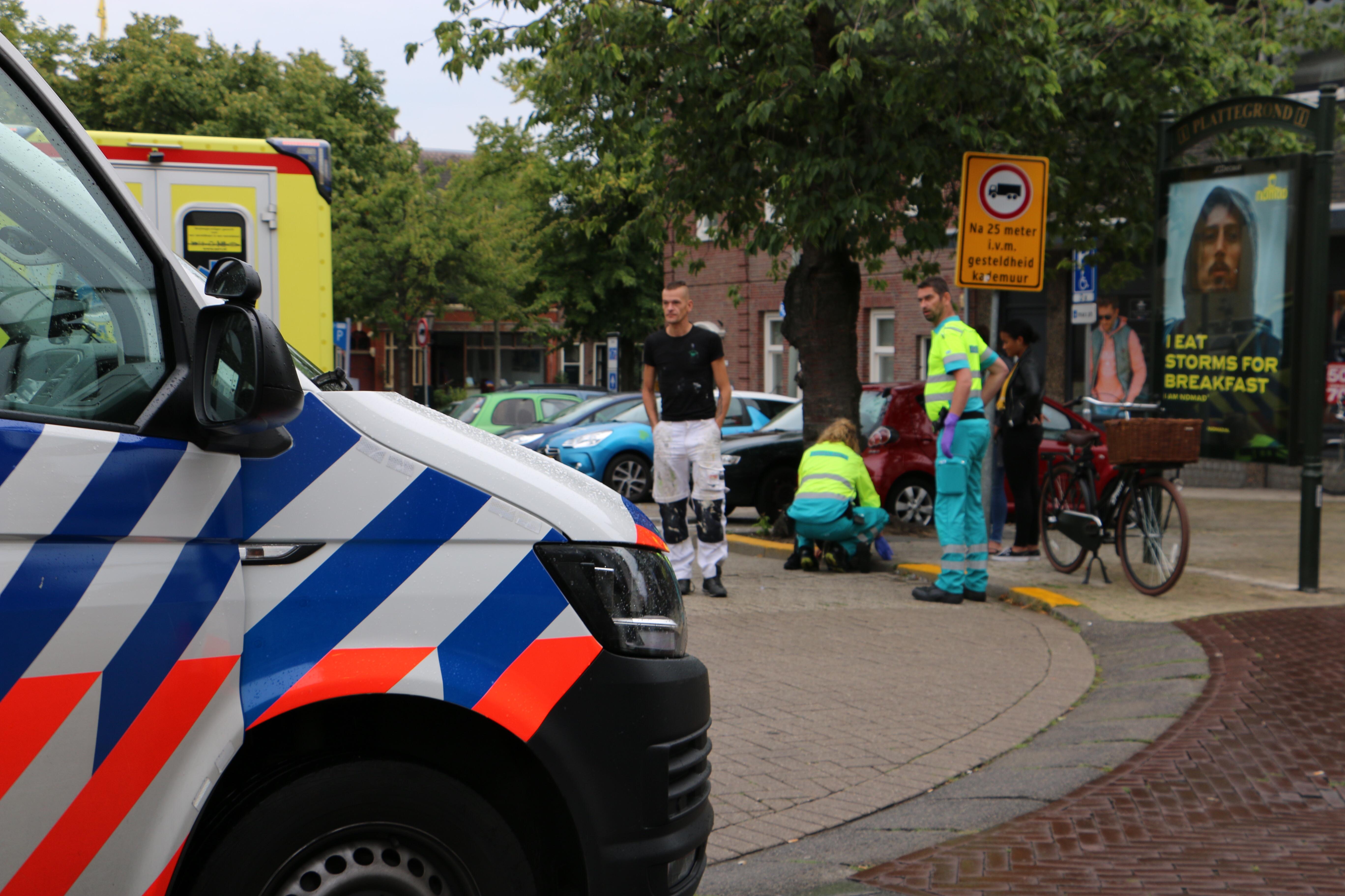 Voetgangster aangereden Hoogstraat/Koemarkt Schiedam.