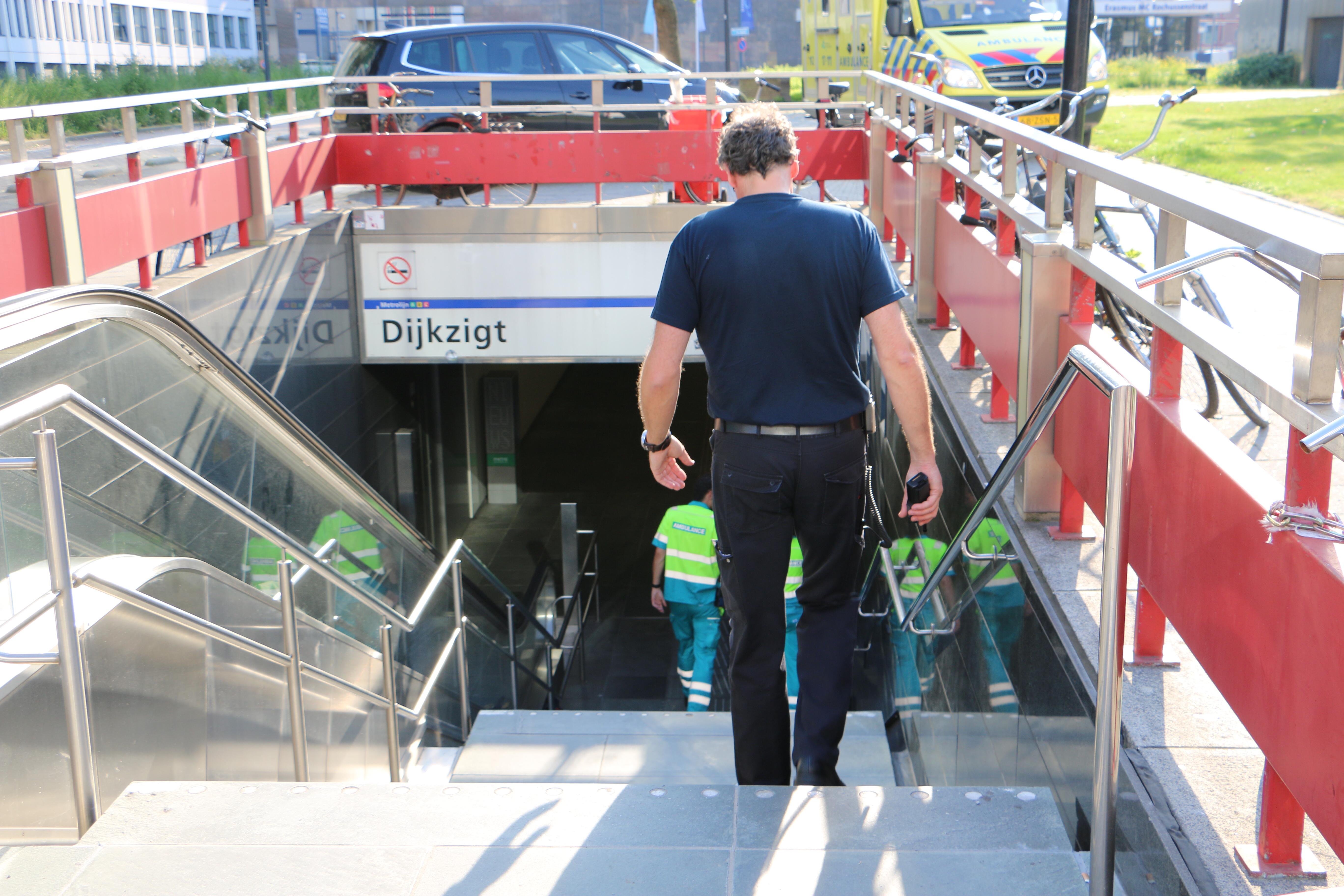 Ongeval Metrostation DijkZigt.