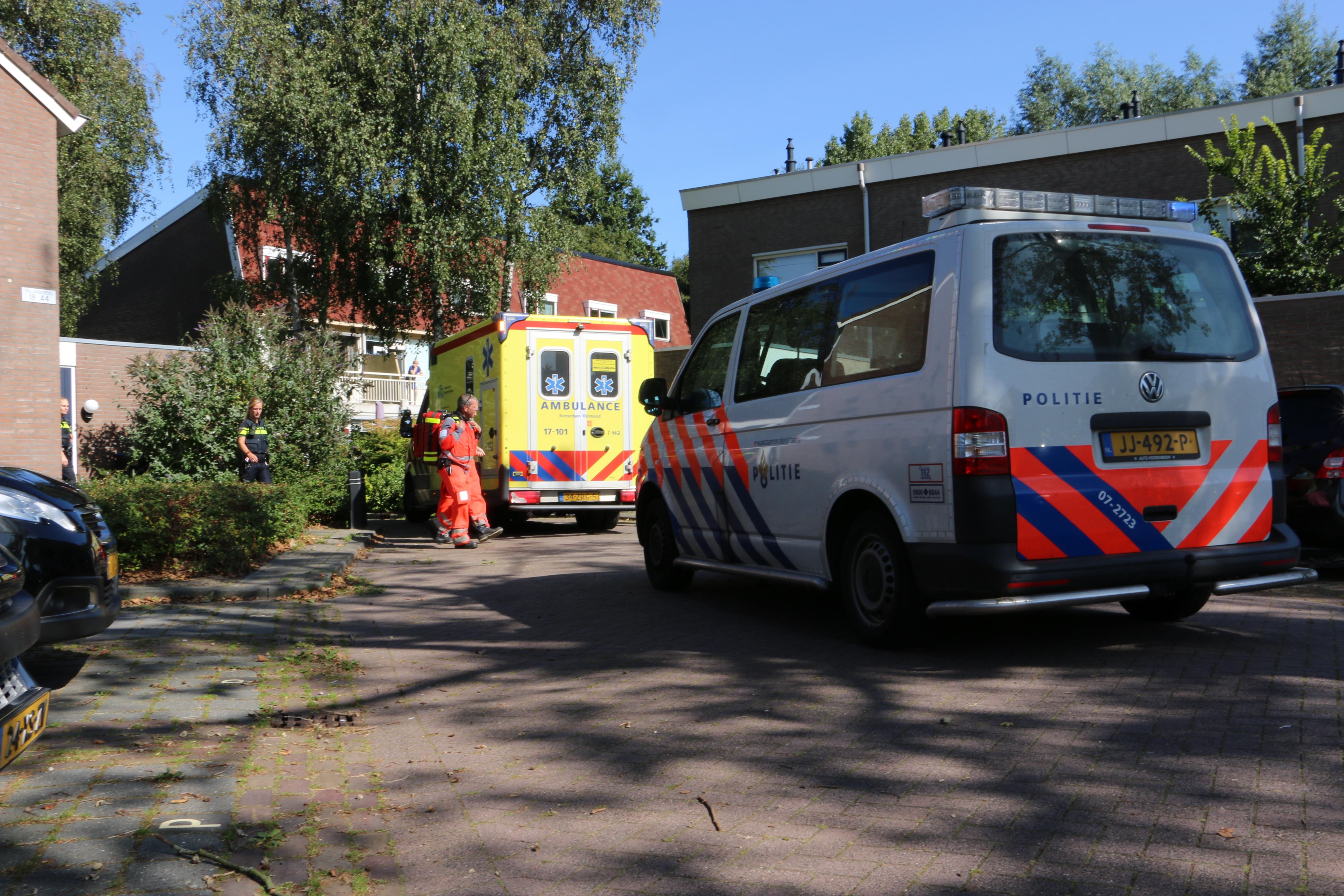 Traumahelikopter naar de Rillandhoeve Vlaardingen.