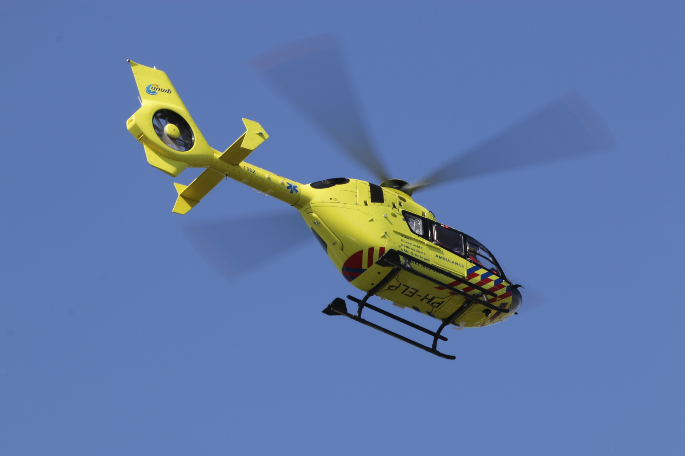 Inzet Traumahelikopter in de Lier