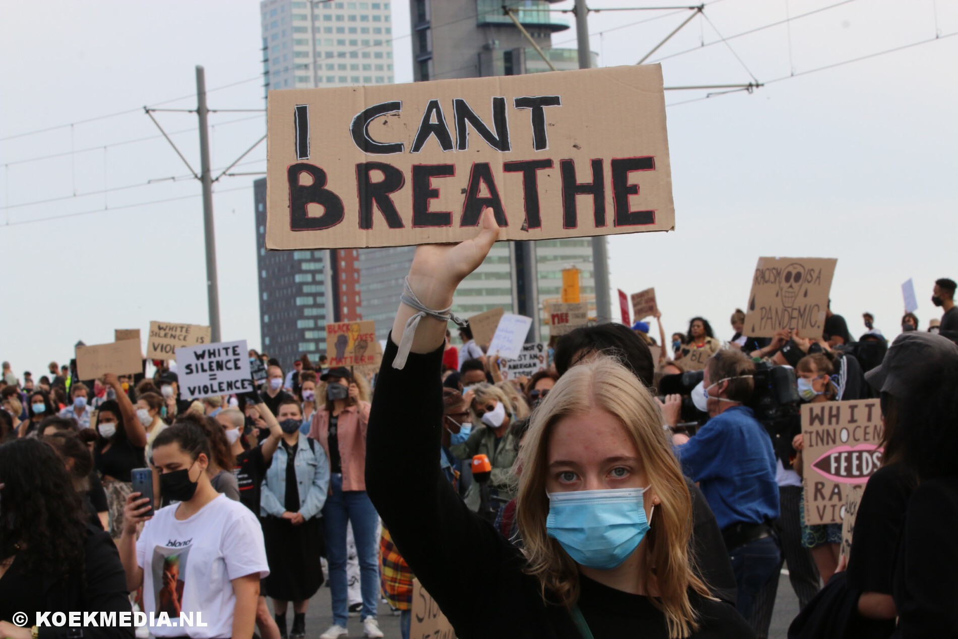 Rotterdam Black Lives Matters protest afgebroken.