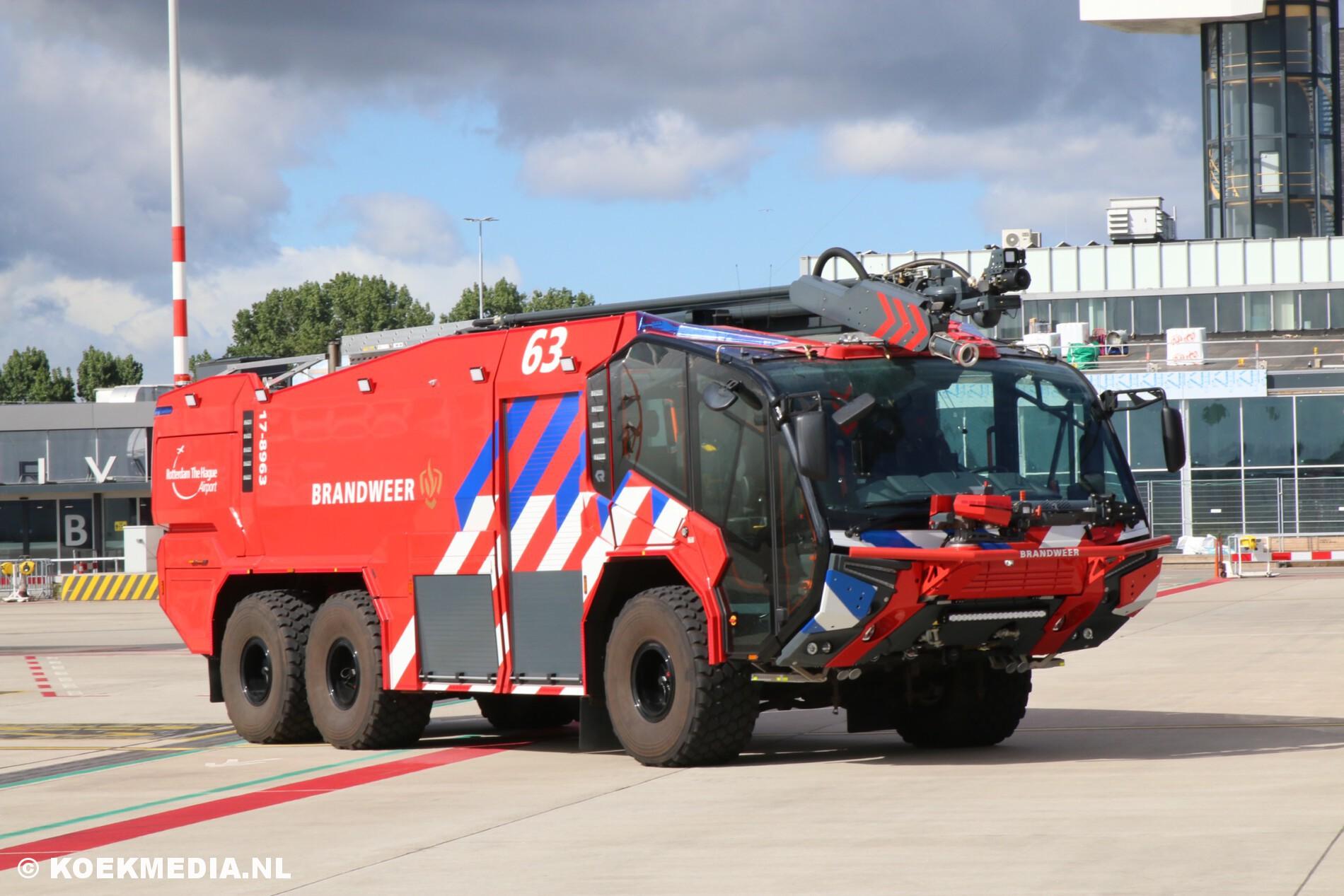 Nieuwe crashtenders voor Rotterdam The Hague Airport.