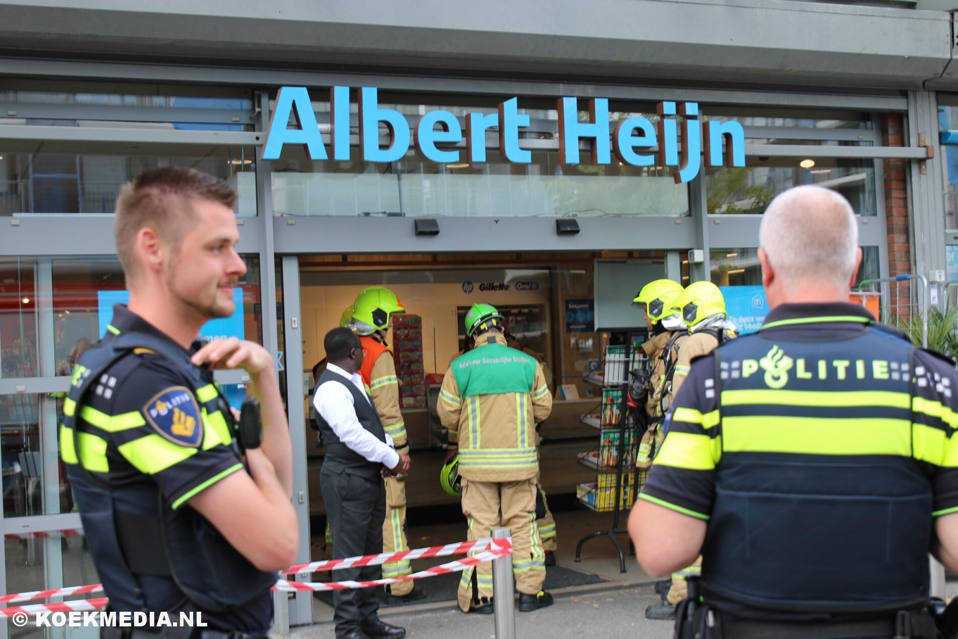 Albert Heijn Mesdaglaan in Maassluis ontruimd na CO2 lekkage