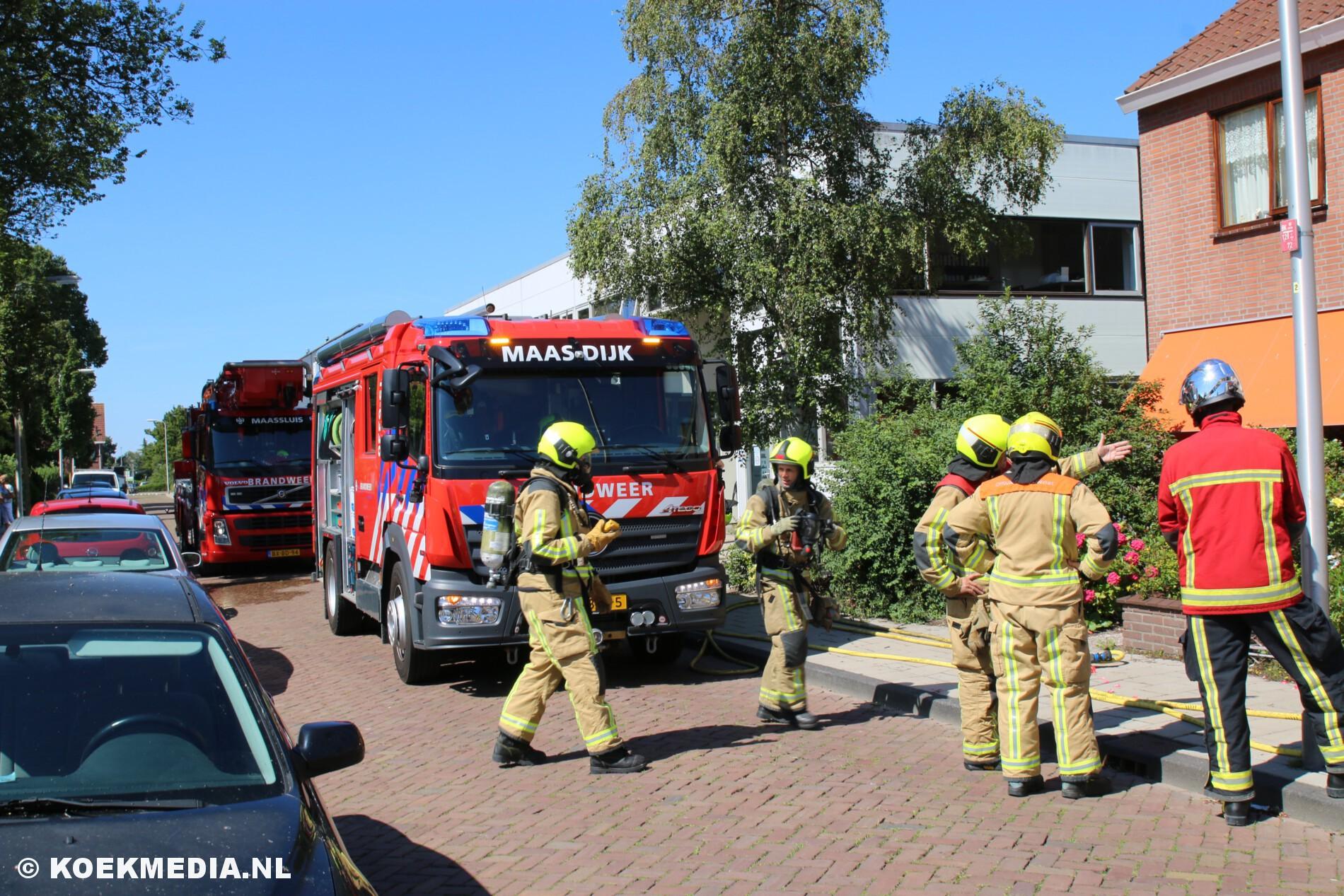 Pannetje vergeten op het vuur: Brandweer breekt deur open