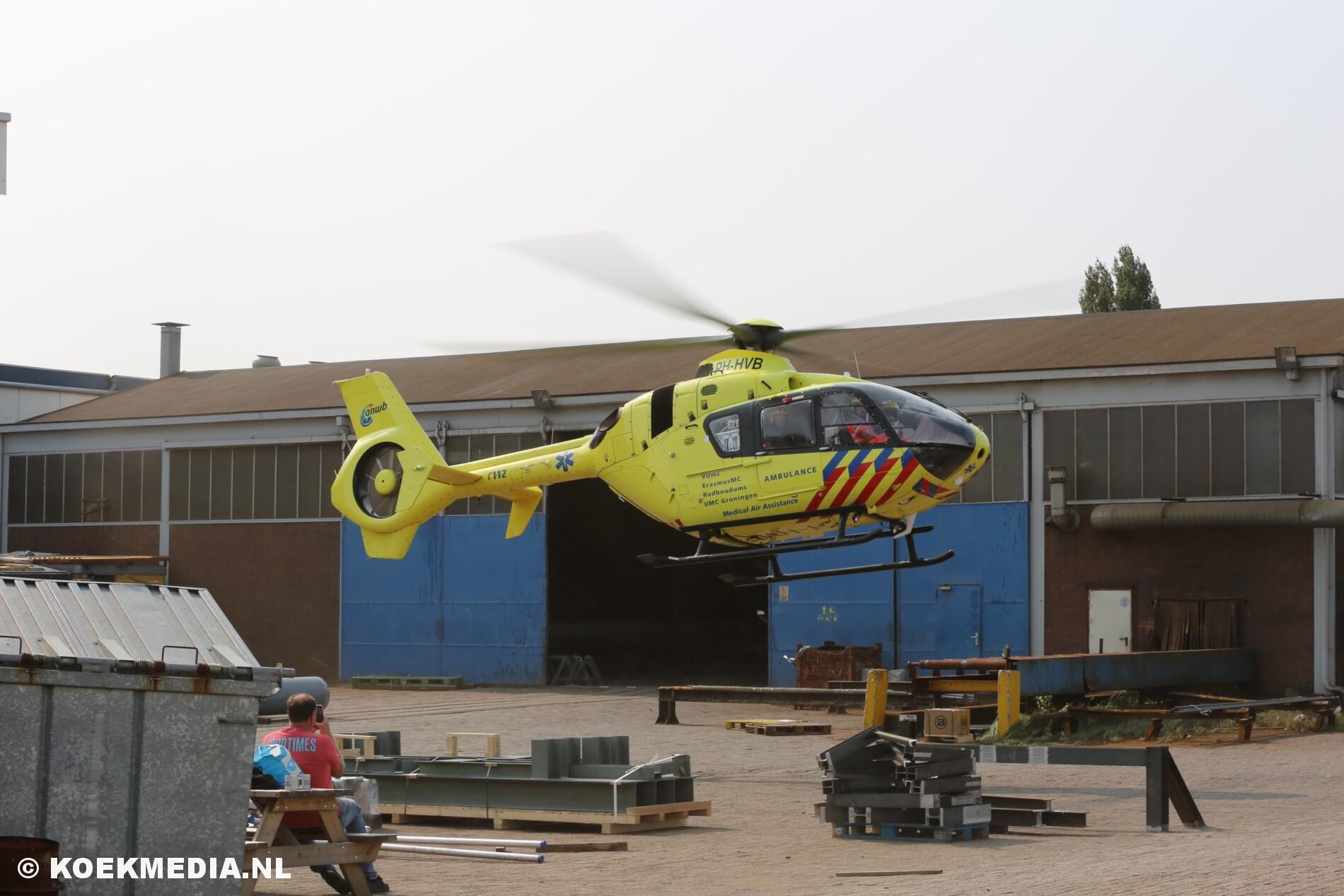 Traumahelikopter voor bedrijfsongeval