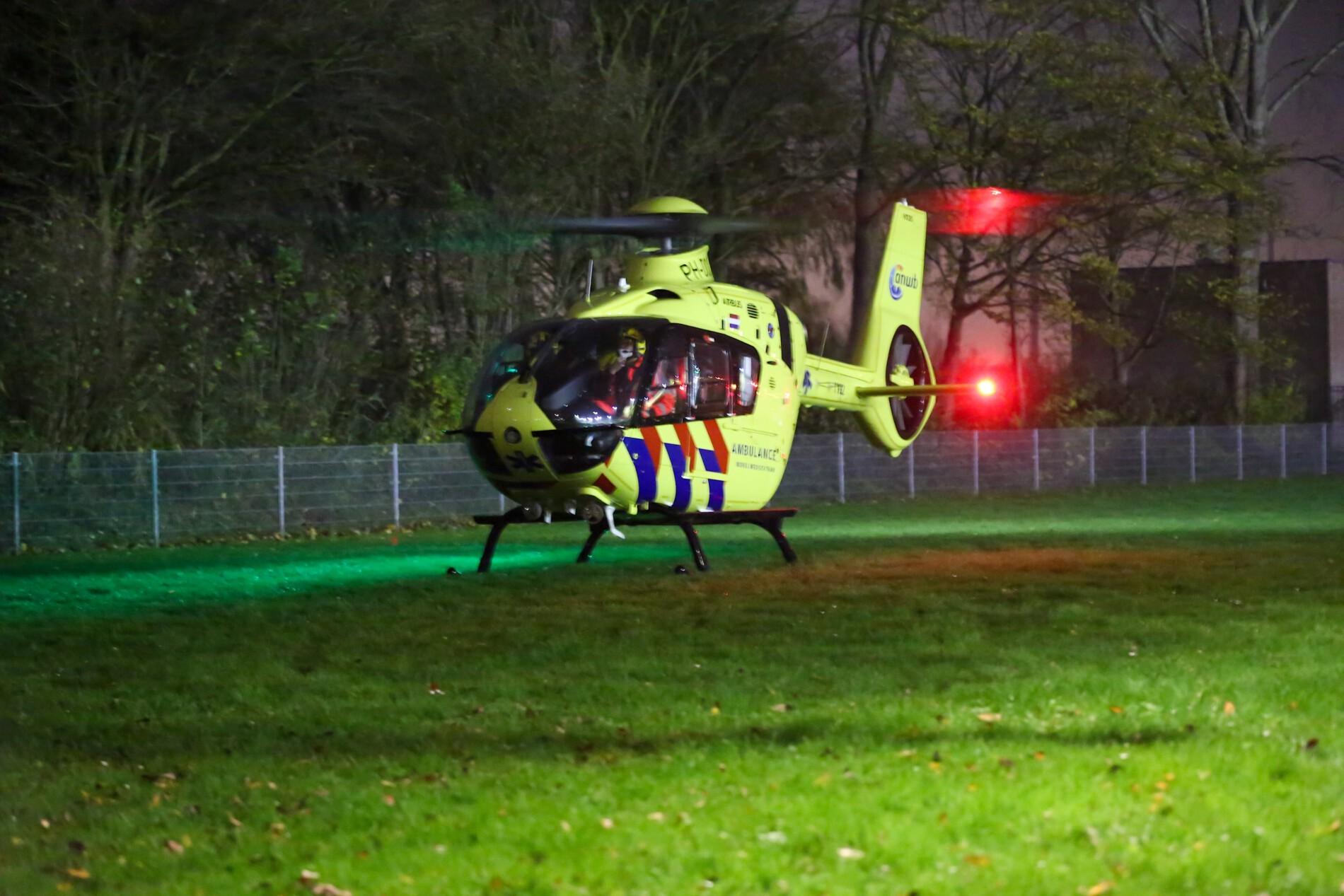 Traumahelikopter inzet in Maassluis