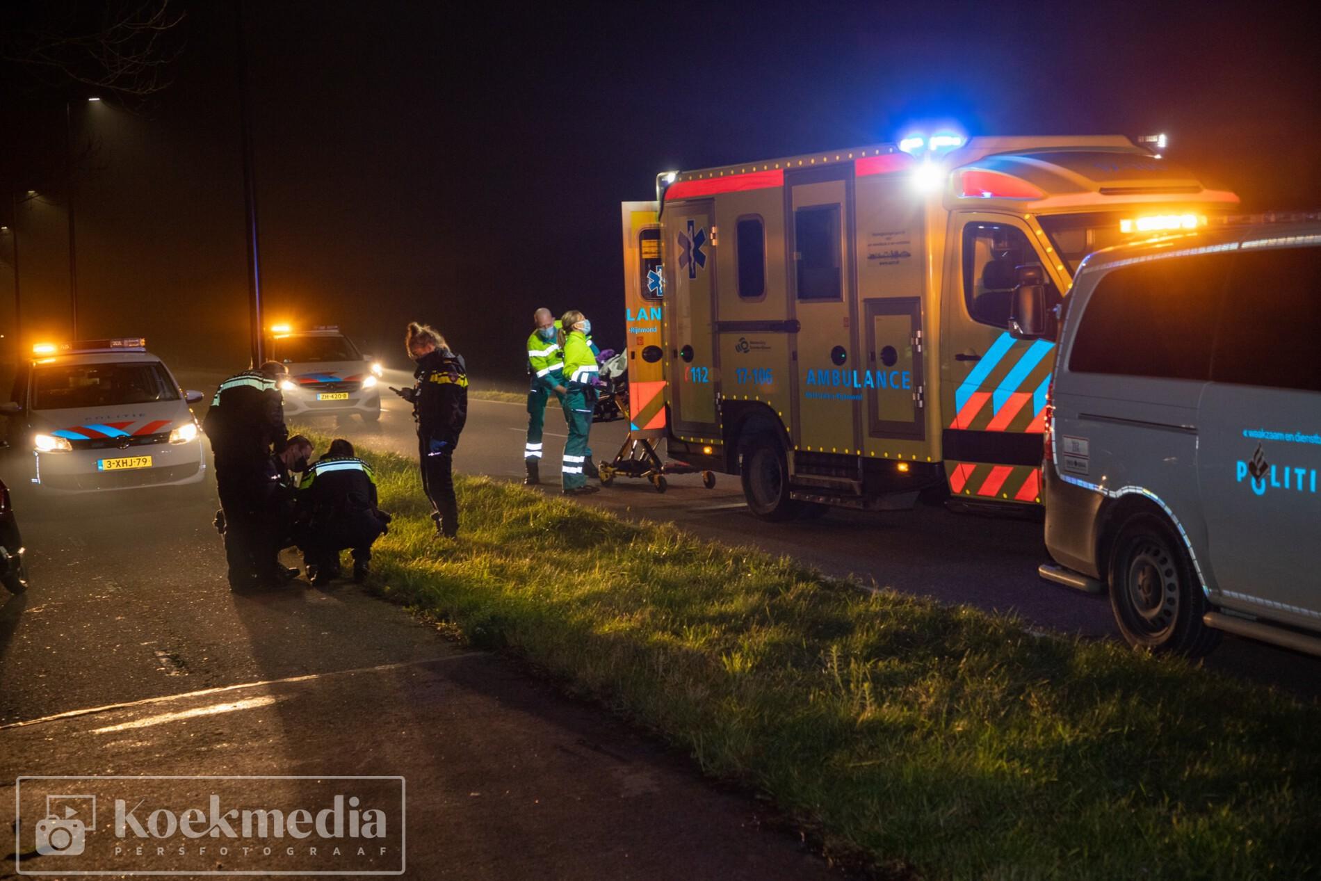 Scooterrijder onderuit en raakt gewond