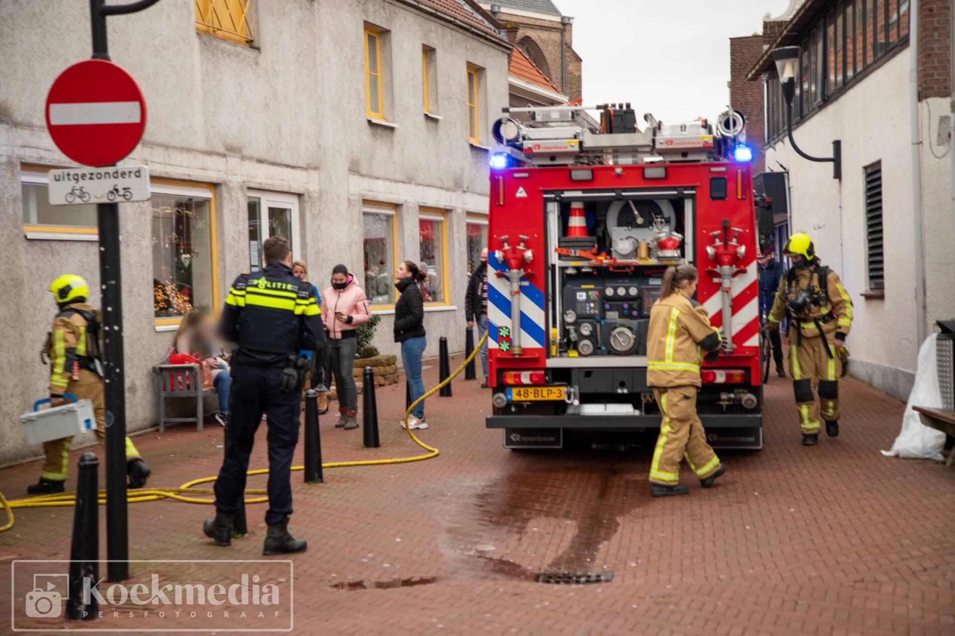 Brandje in ventilator bij cafetaria de Eethoek in de Lier
