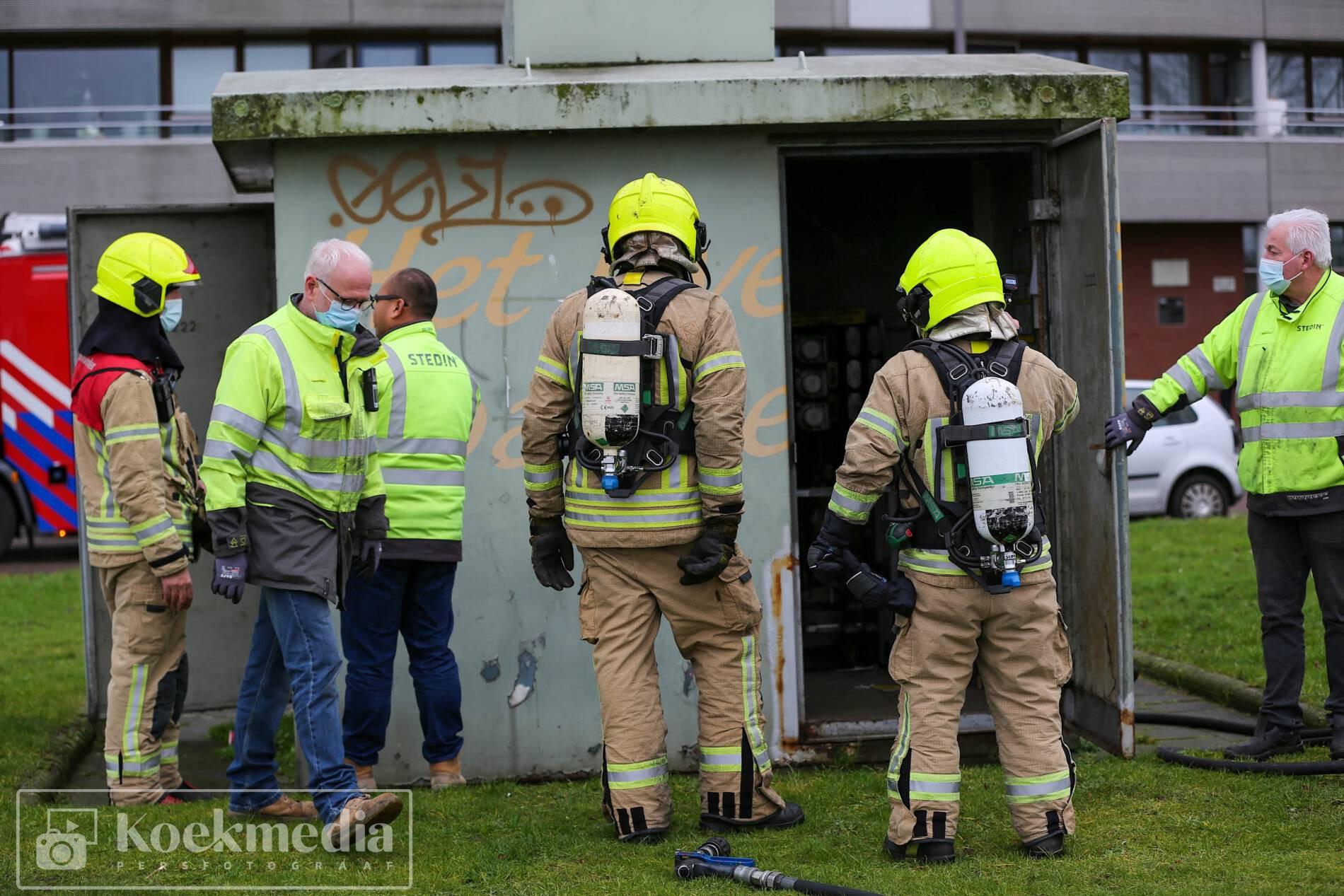 Brand in transformatorhuisje, 3500 woningen zonder stroom