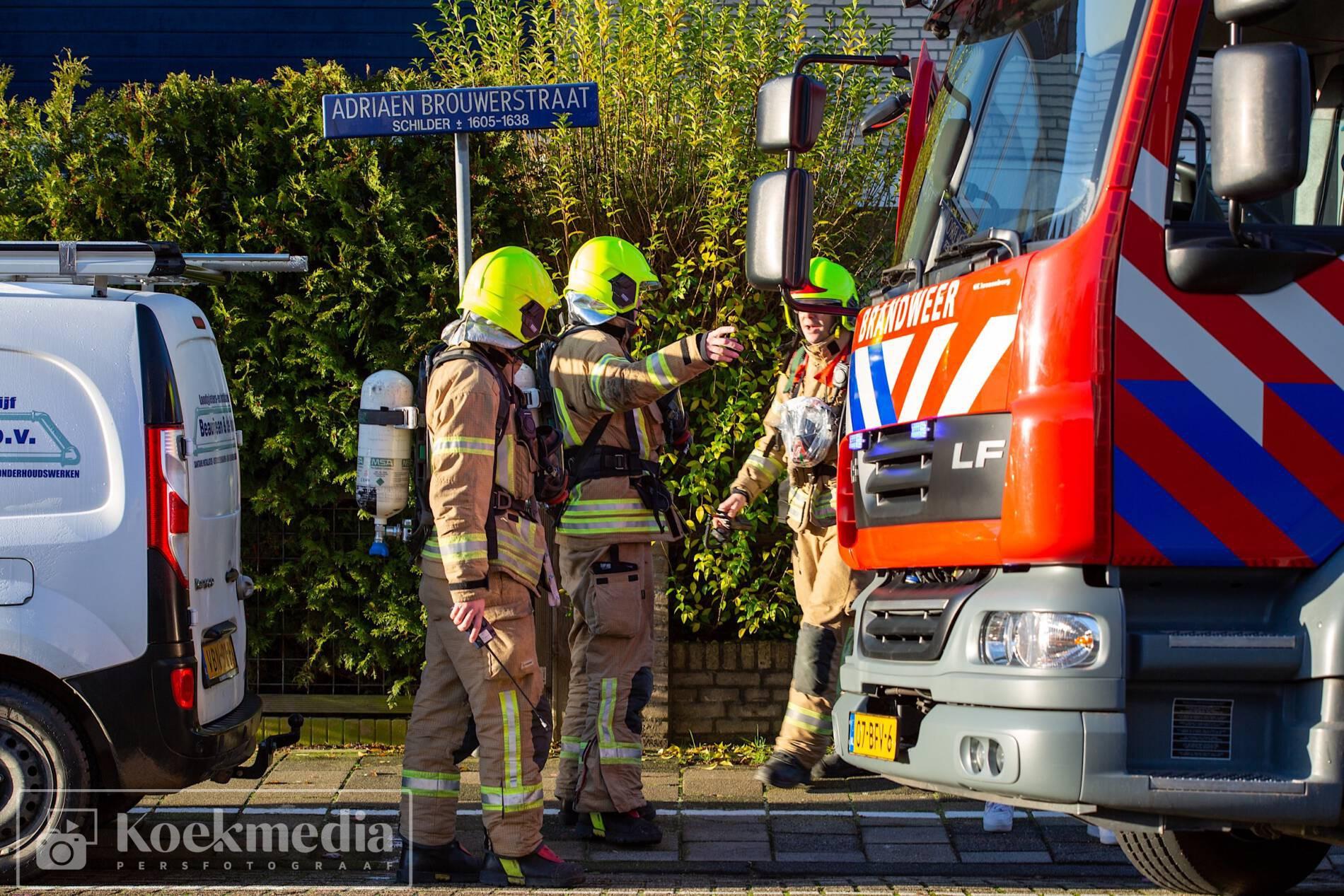 Vreemde gaslucht in woning Adriaen Brouwerstraat Maassluis
