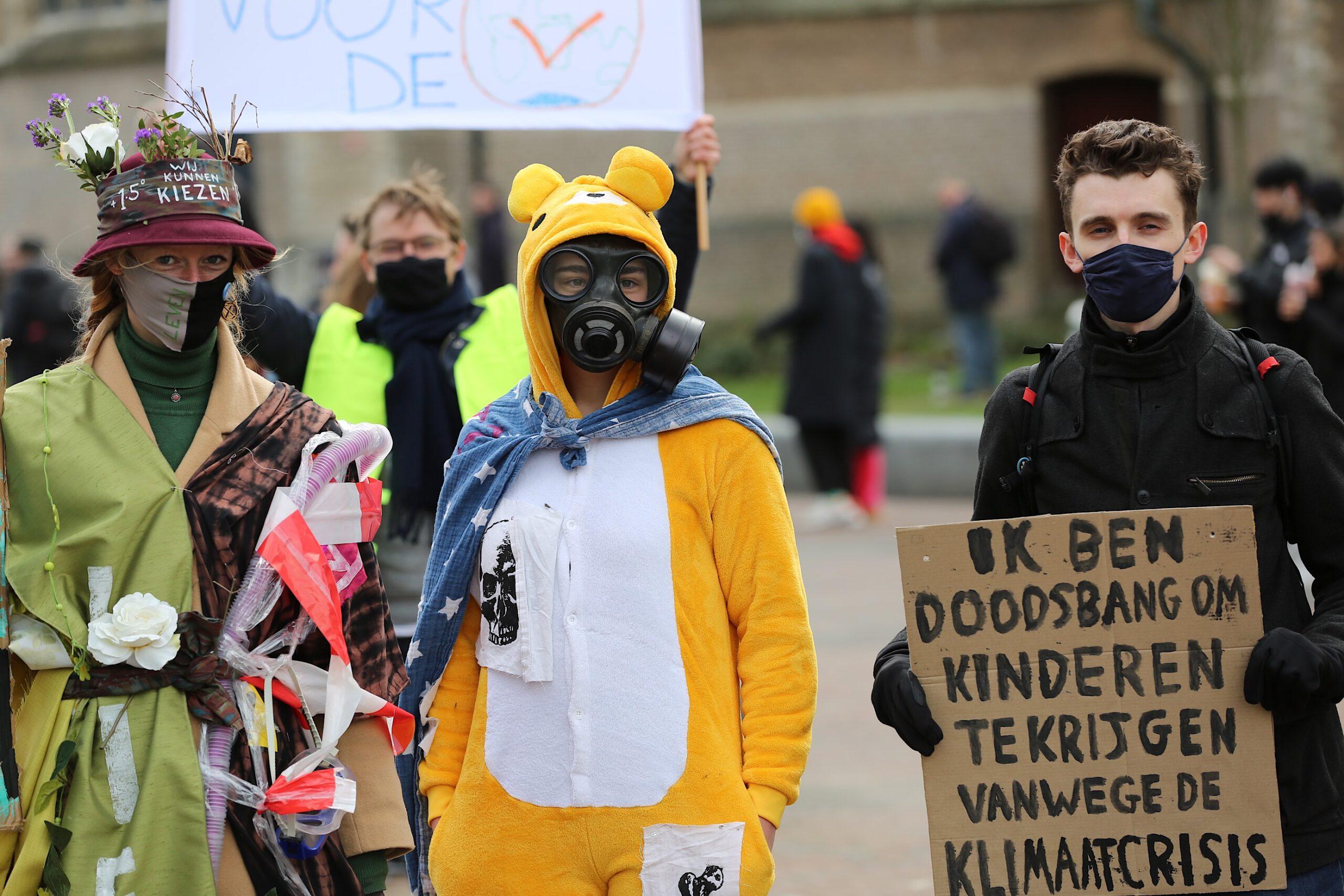 """Klimaatalarm"" protest Rotterdam"