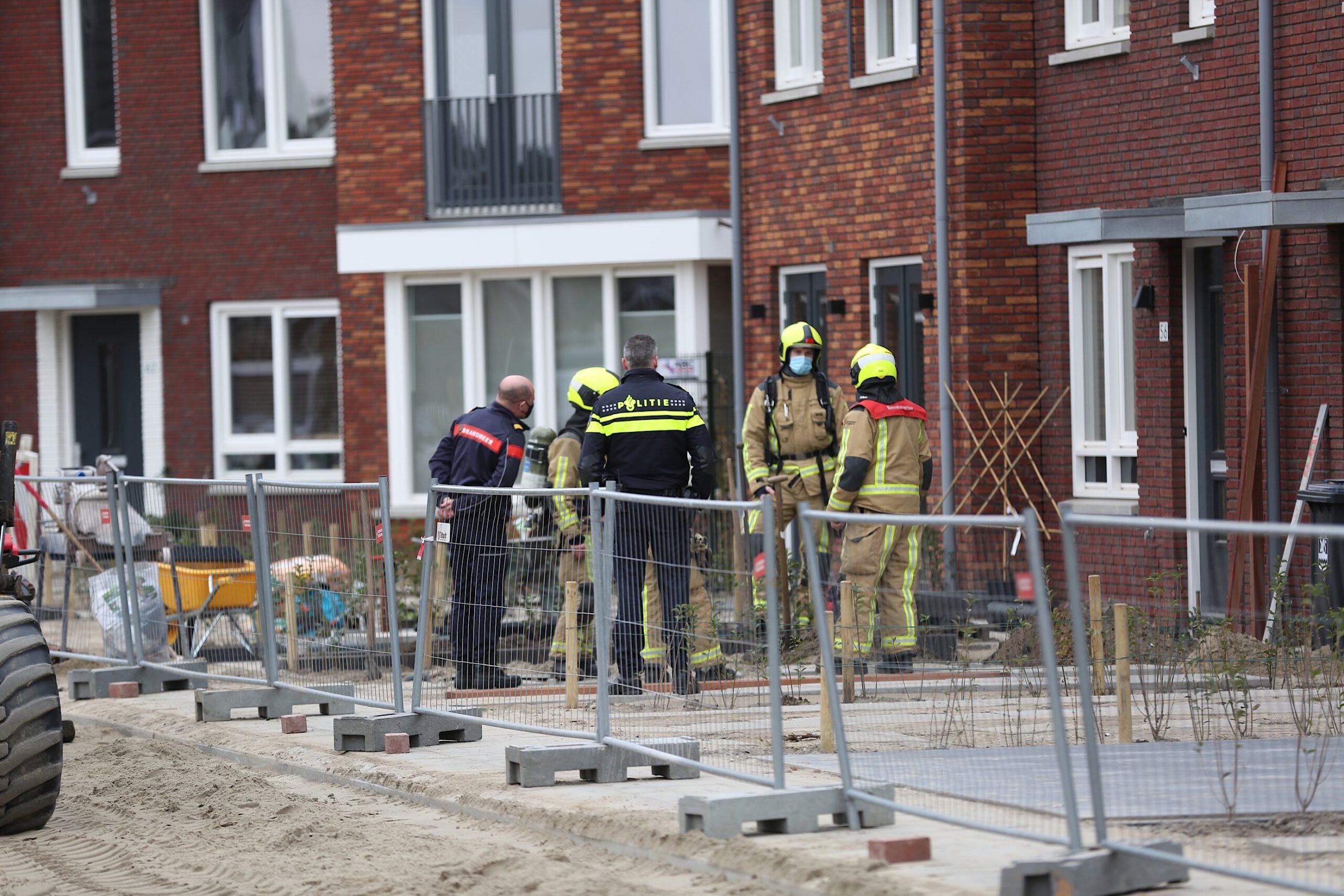 Gaslekkage bij nieuwbouw woningen in de Maasdijk