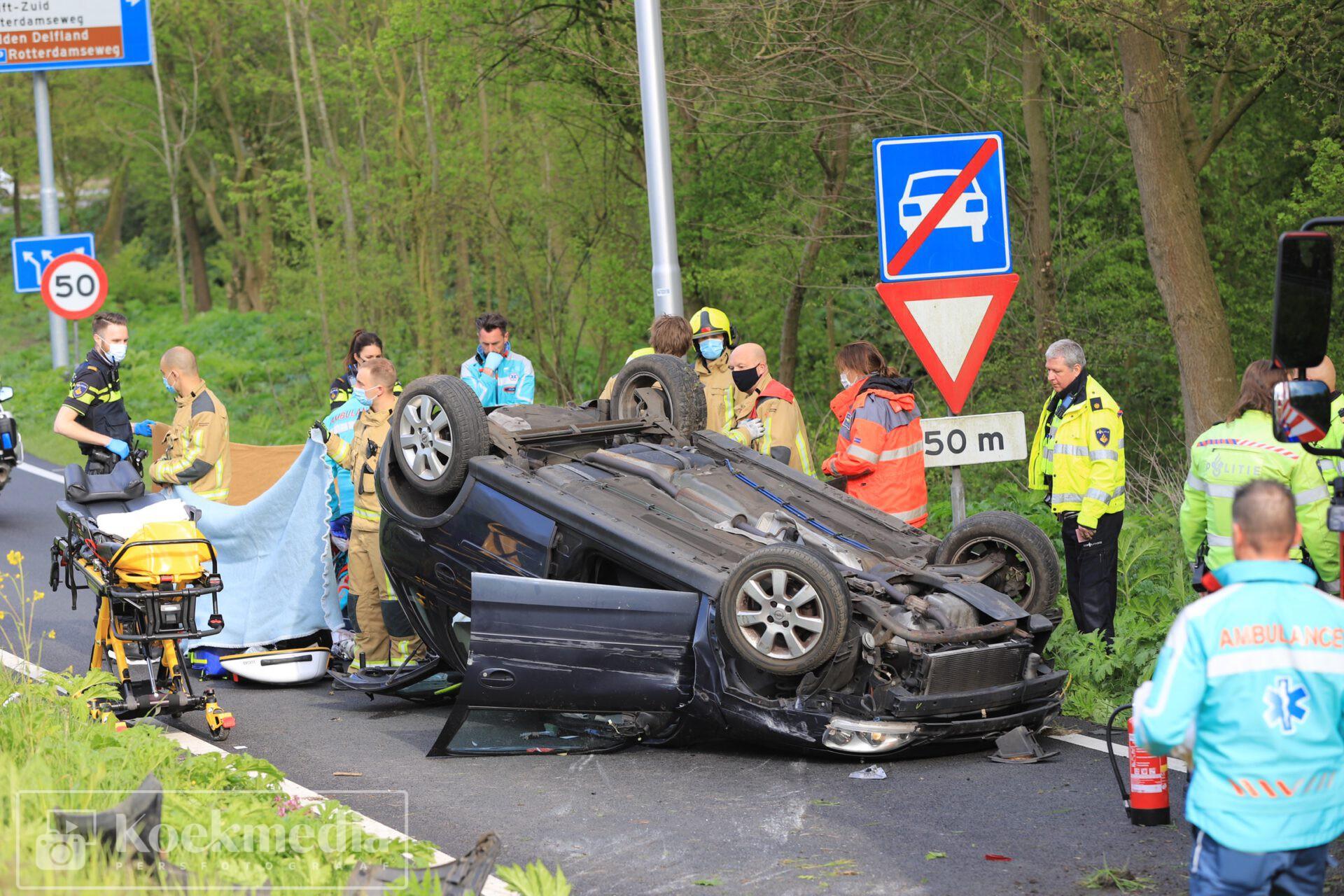 Fataal ongeval bij afrit Kruithuisweg Delft