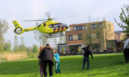 Inzet traumahelikopter van ' T Hoffstraat in Vlaadingen