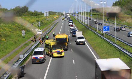 Ongeval tussen 2 auto's op de A4 Schipluiden