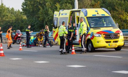 Motorrijder raakt gewond na ongeval op de A20-Maassluis