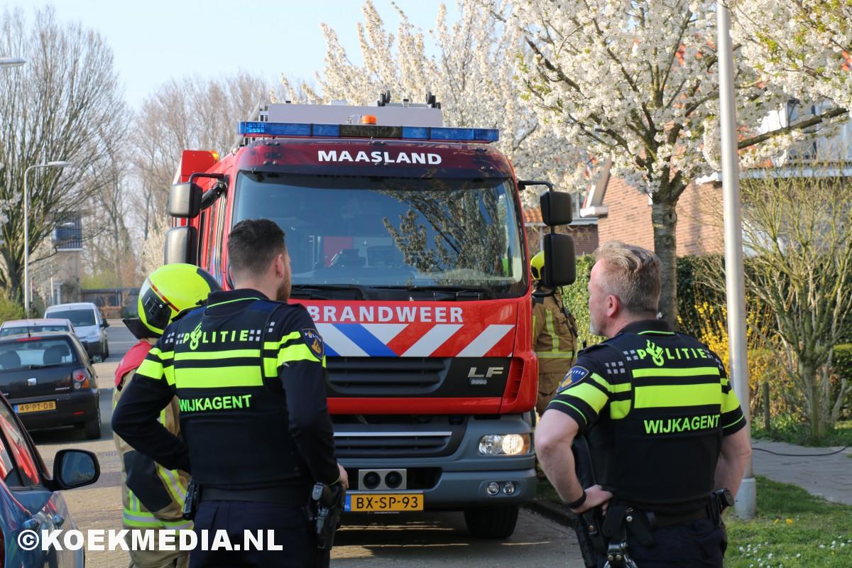 Pannetje vergeten op vuur Prinses Irenelaan in Maasland.