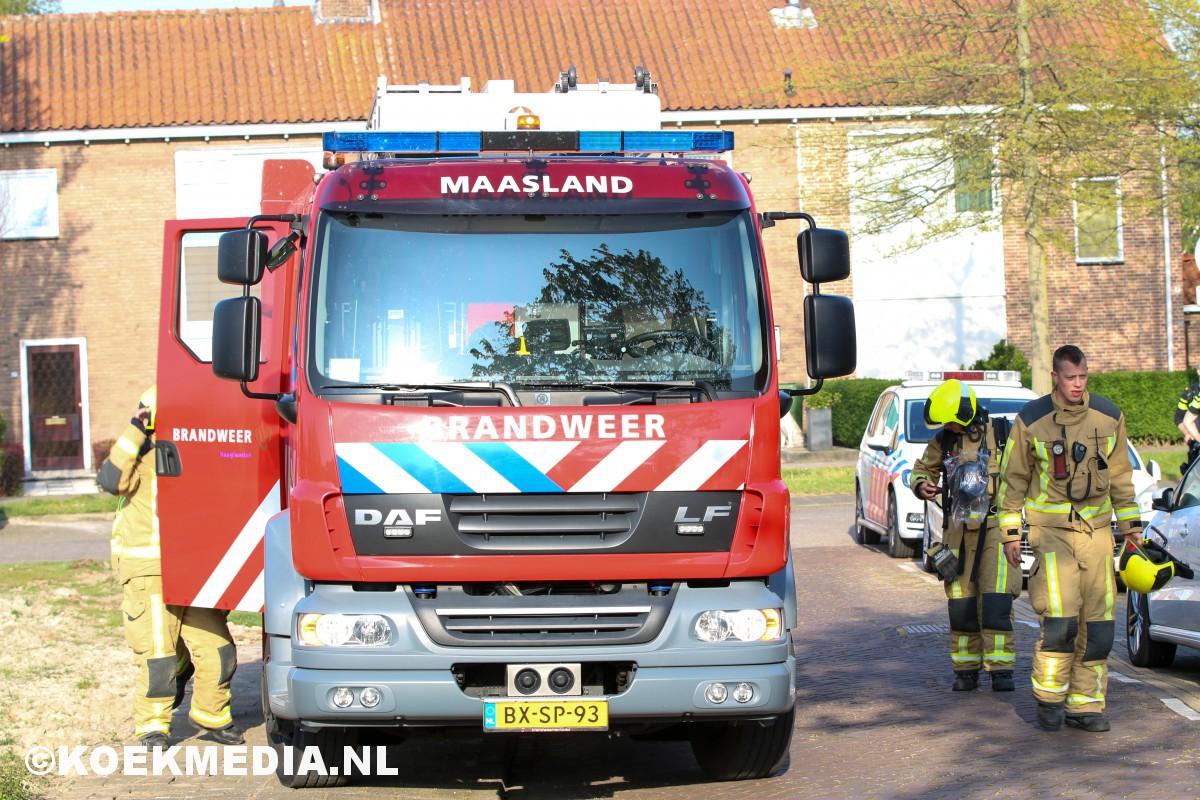 Stank/gaslucht in woning Hofdijkstraat Maasland.