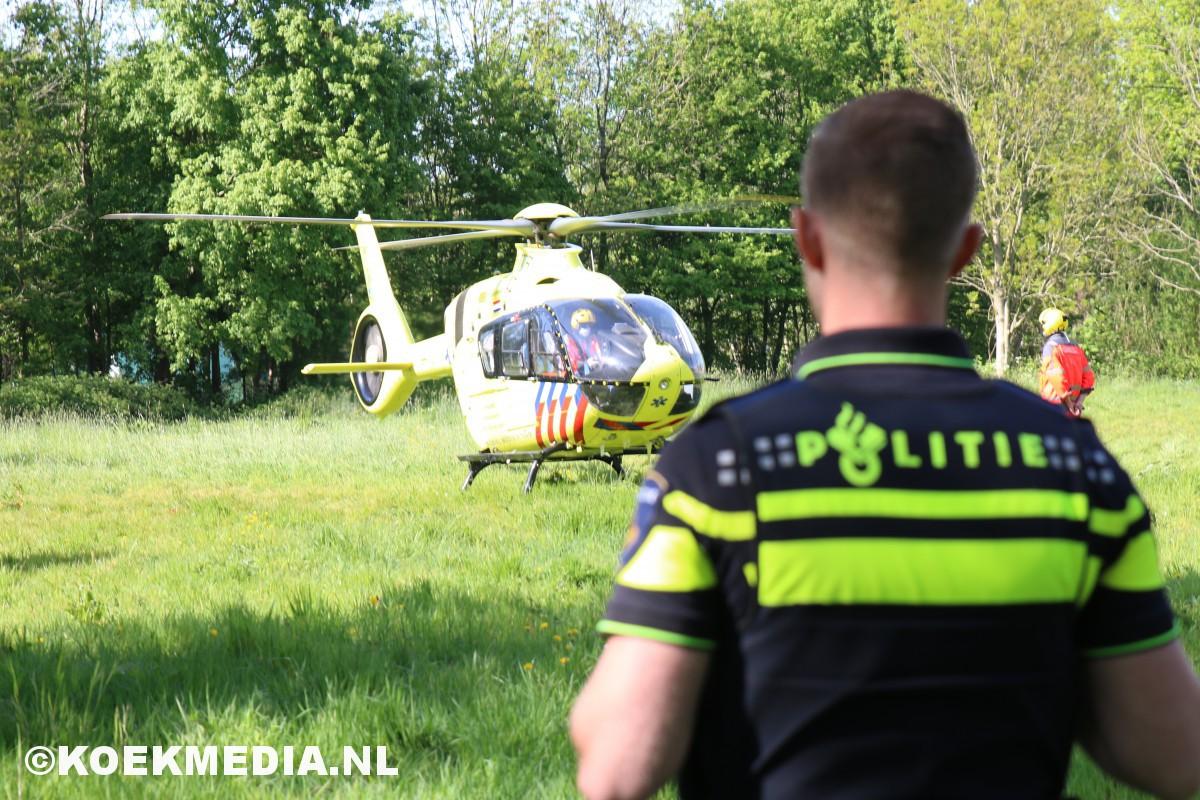 Traumahelikopter ingezet voor medische noodsituatie in Vlaardingen.