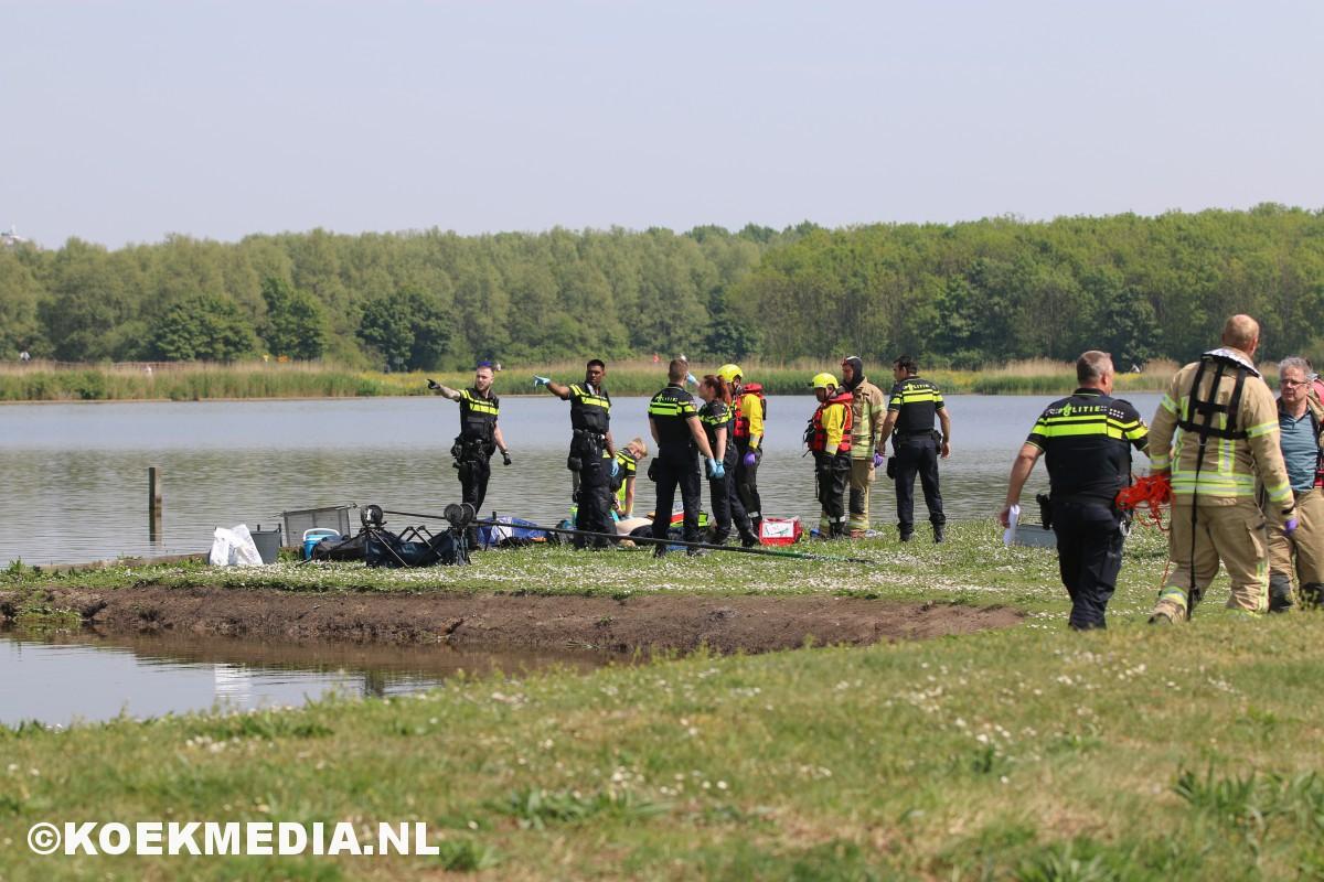 Te water geraakte visser overleden bij het Krabbenplas in Vlaardingen.