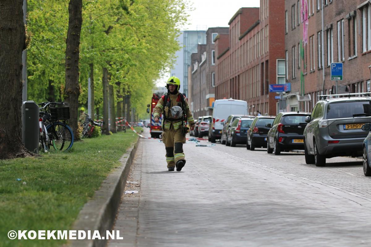 Woningen ontruimd na gaslek op de Lange Hilleweg Rotterdam.